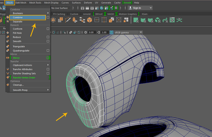 Creating a Magnum Mecha Character in Maya: Part 6