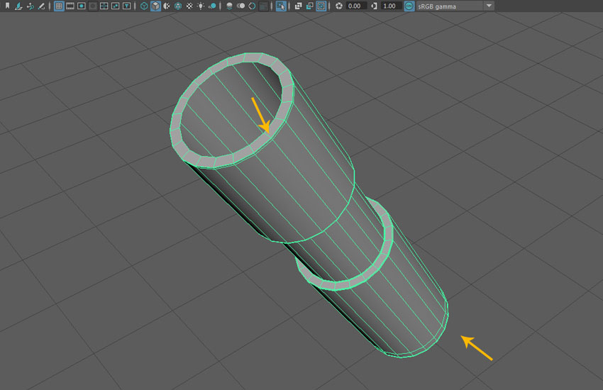 Edit the shape of the cylinder