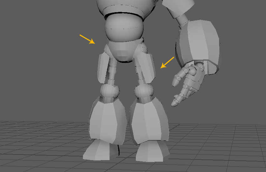 All leg parts have been duplicated