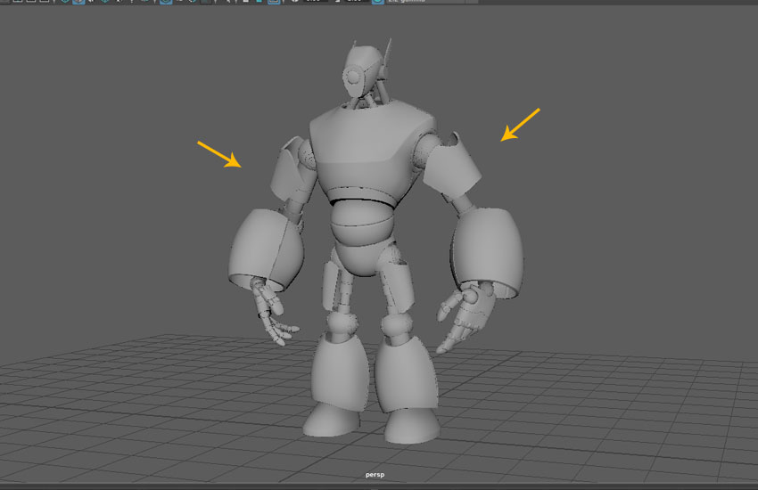 All hand parts have been duplicated