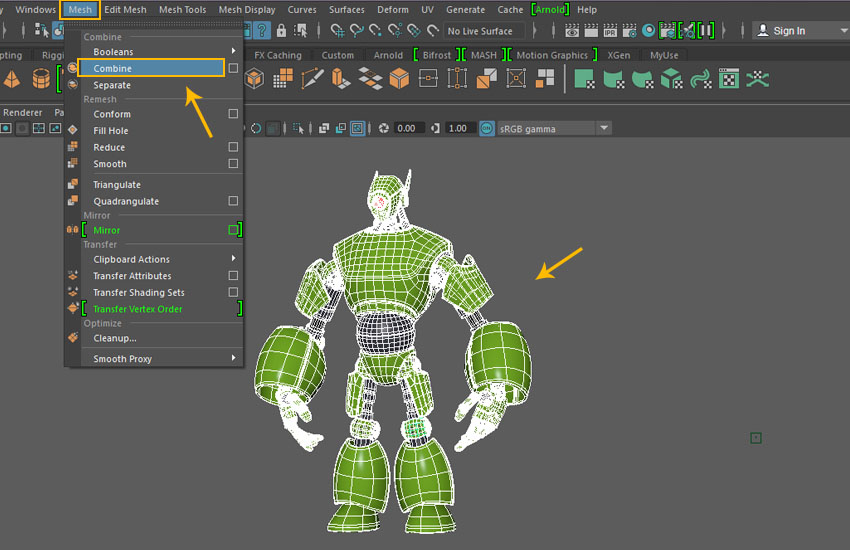 Creating a Magnum Mecha Character in Maya: Part 8