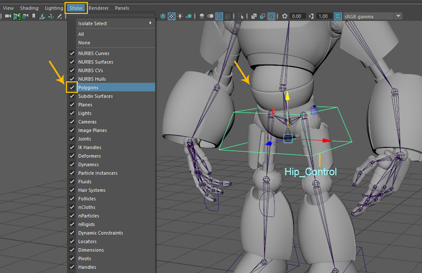 Creating a Magnum Mecha Character in Maya: Part 9