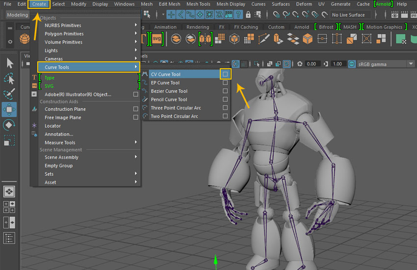 creating a magnum mecha character in maya  part 9