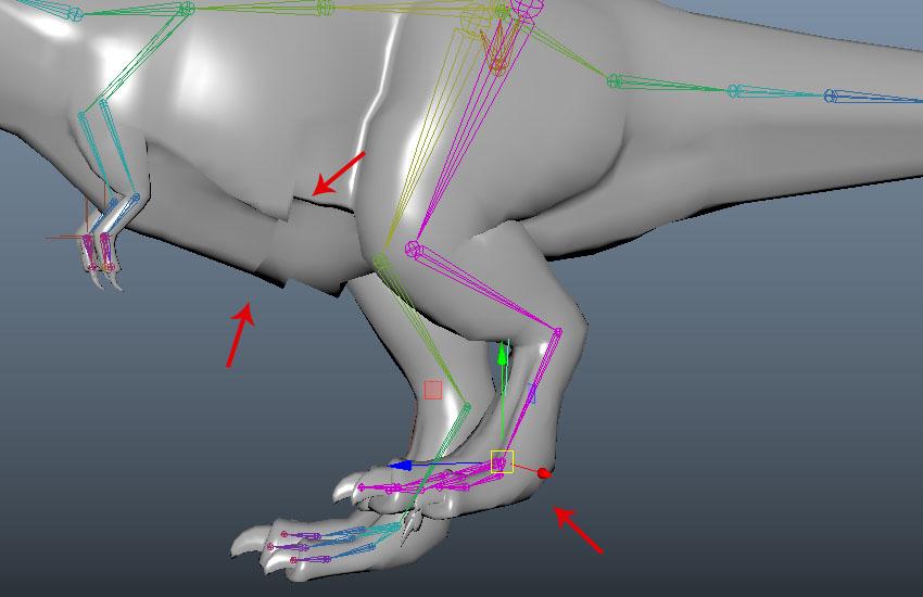 Select foot IK handle