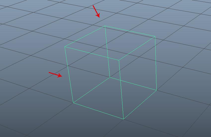 Delete the polygon cube