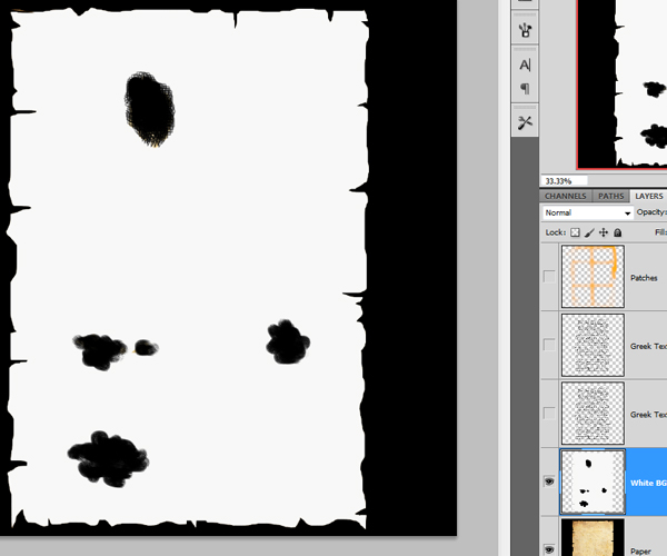 playing with opacity map in photoshop