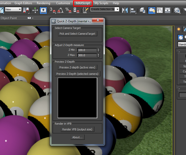 Two Ways to Generate Z Depth in 3ds Max