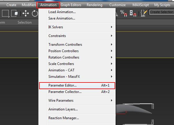 Animation  Parameter Editor