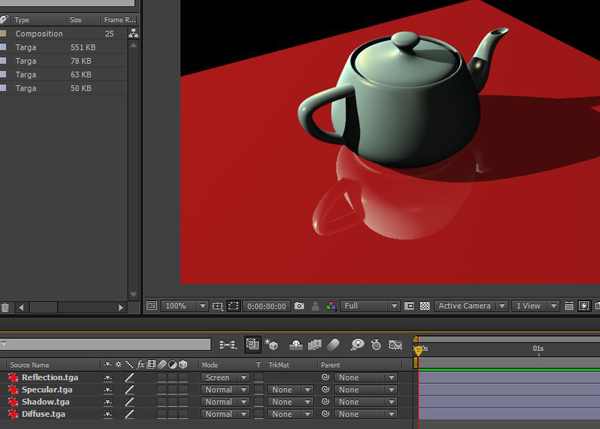 Now you get the final composited scene