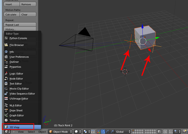 how to change point of orgin on an armature blender