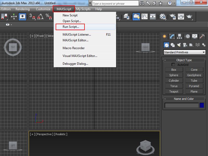 MAXScript  Run Script