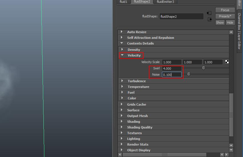 Velocity tab