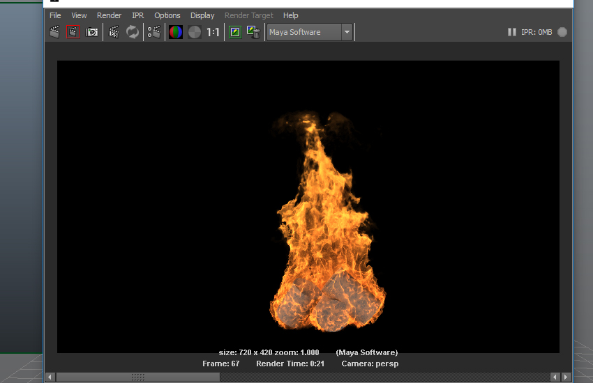 Fire simulation animation