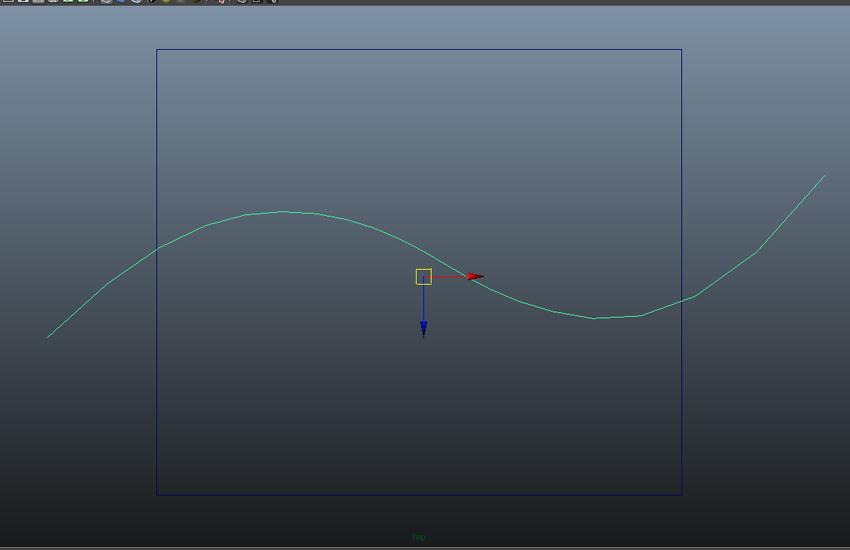 Create a curve through the cube