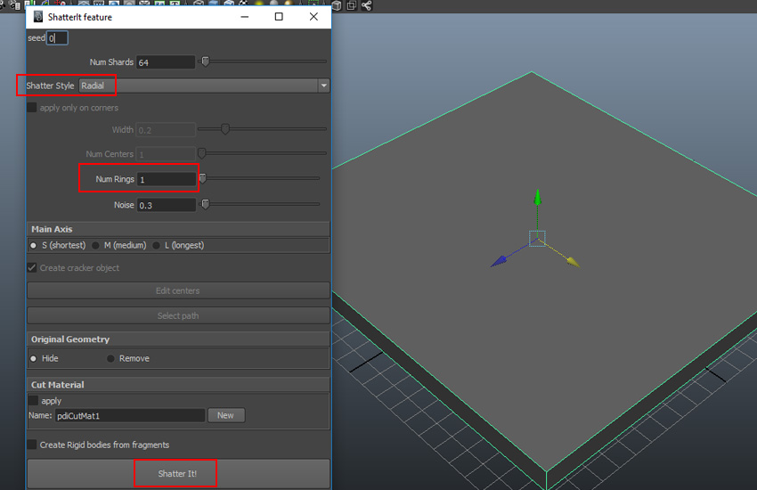 Destructing Elements in Maya With PullDownIt: Part 2