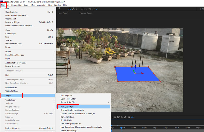 File  Script  AE3D_Exportjsx