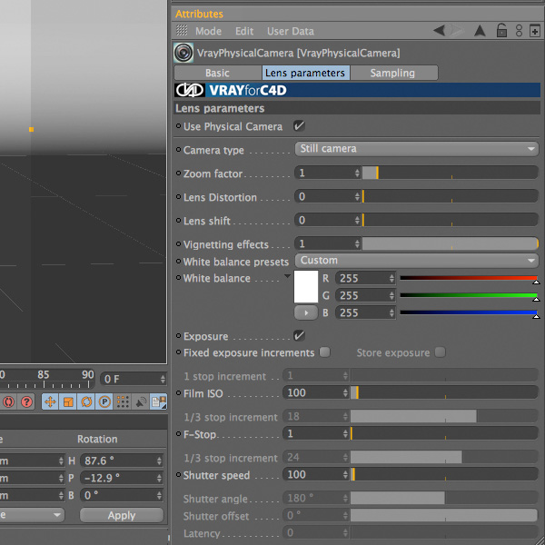 Vray render settings
