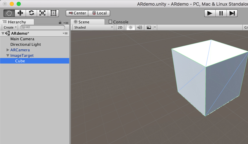Introduction to Vuforia on Unity for Creating Augmented Reality Applications