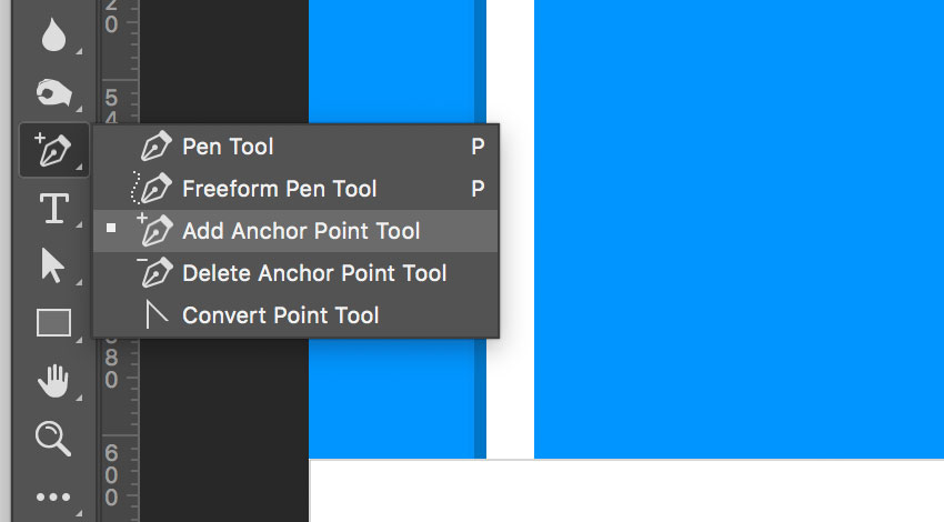 Add anchor point tool