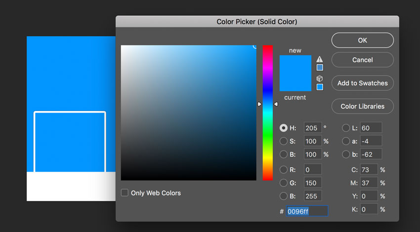 New fill layer color picker