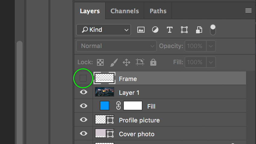 Hide the frame layer