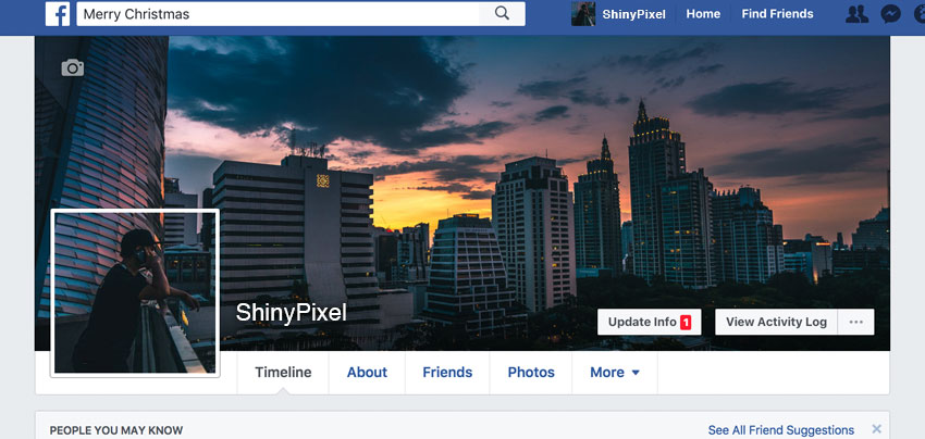 Facebook profile ready