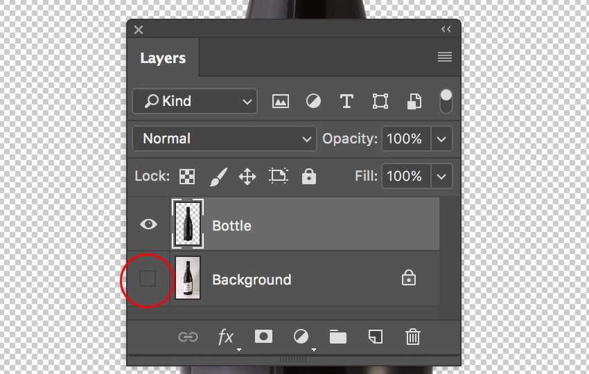 Photoshop Layers Panel visibility