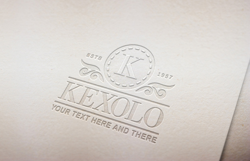 Pressed Paper Logo Mock Up