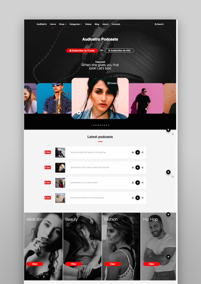 Audioatro Multipurpose Audio WordPress Theme