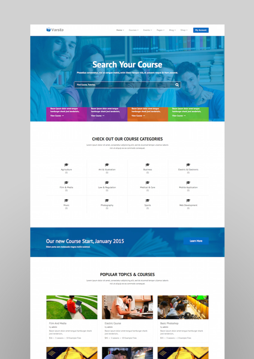 Varsita - Education Theme A Learning Management System for WordPress