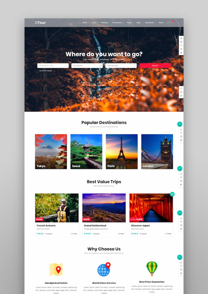 Grand Tour Tour Travel WordPress for Travel and Tour