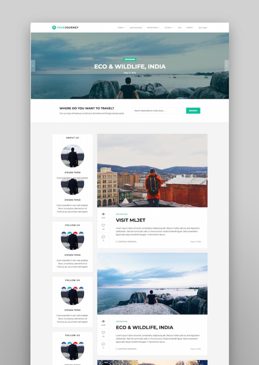 Your Journey - Travel Blog WordPress Theme