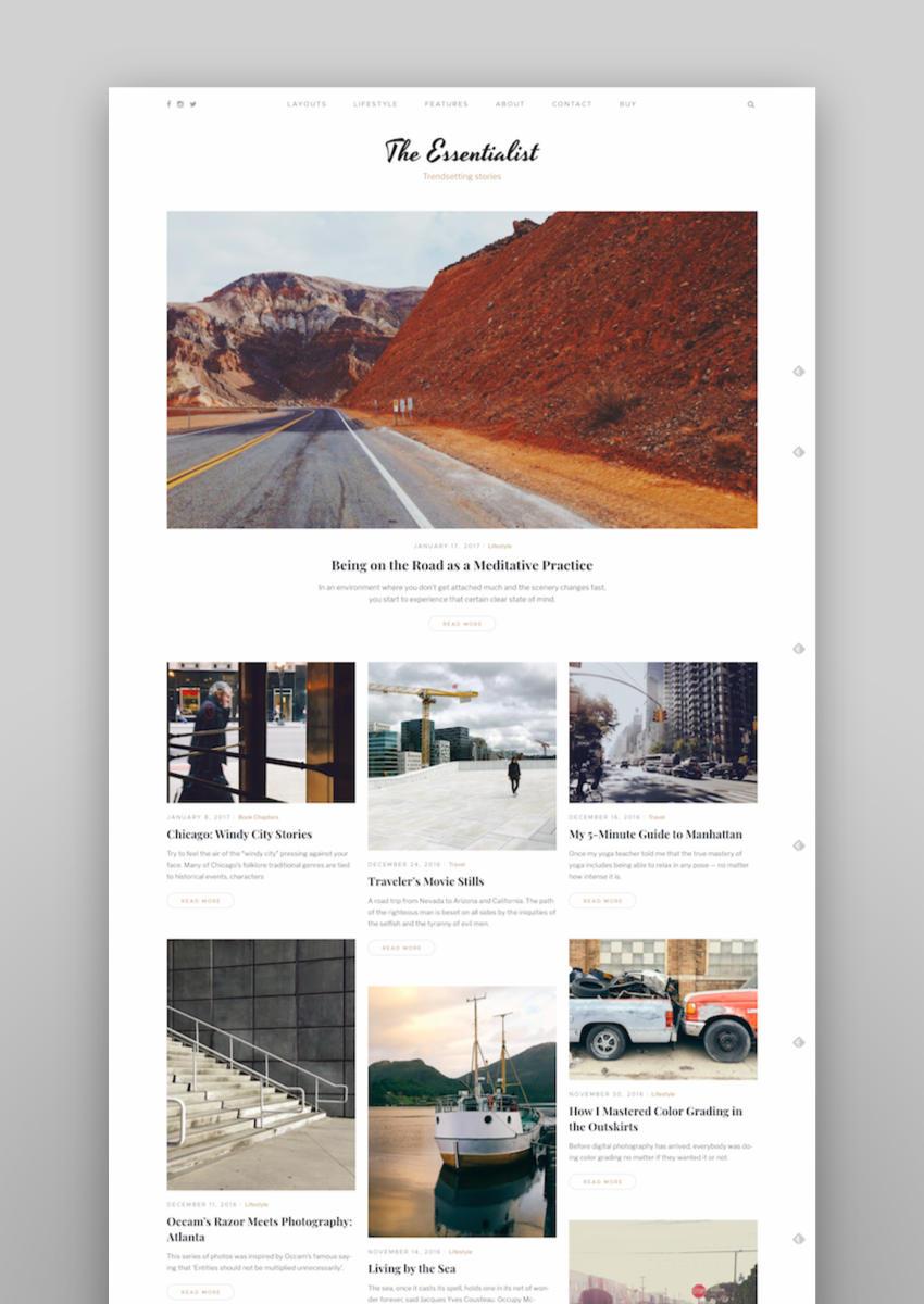 Essentialist  A Narrative WordPress Blog Theme