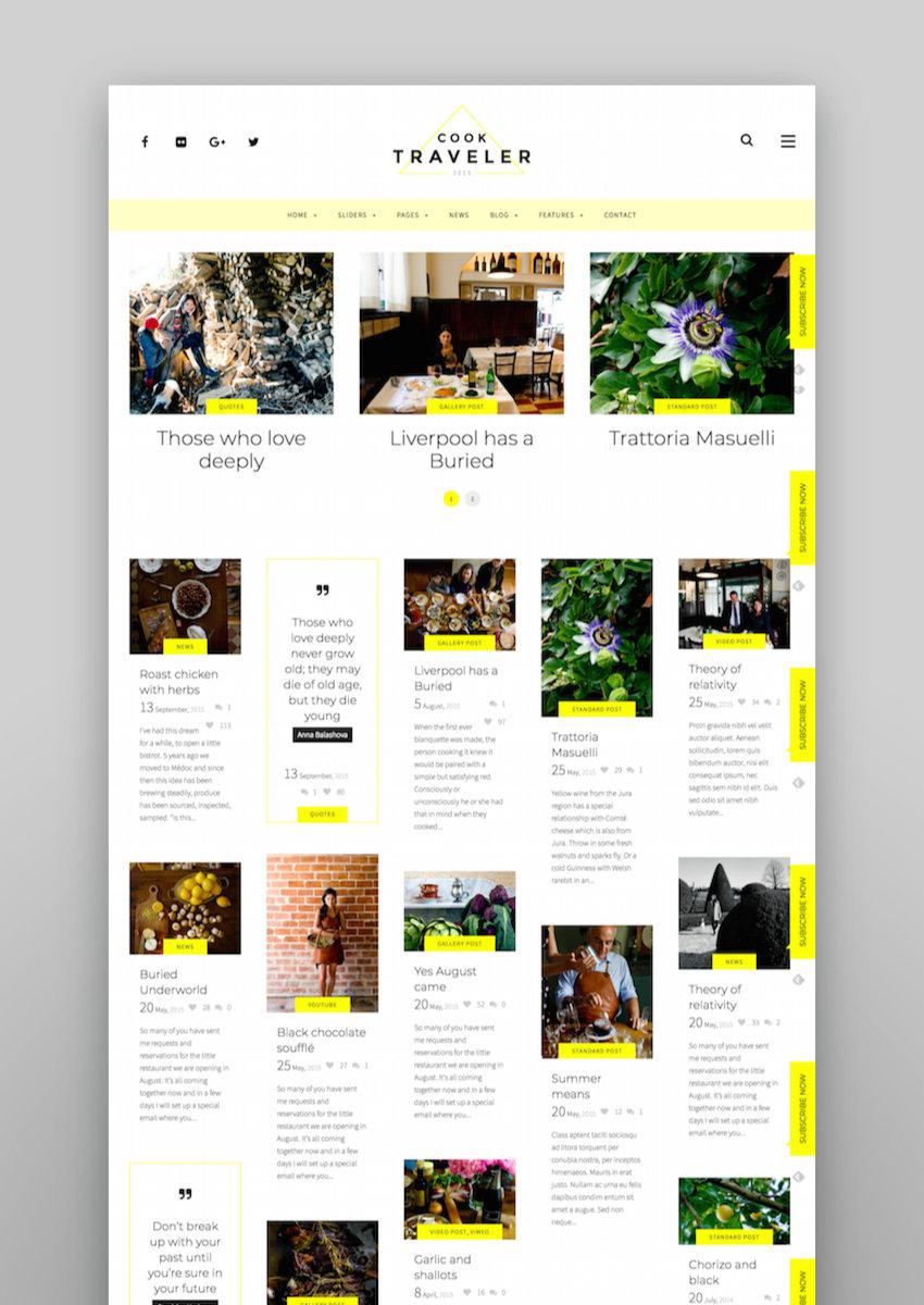 Cook Traveler - Responsive Blog WordPress Theme