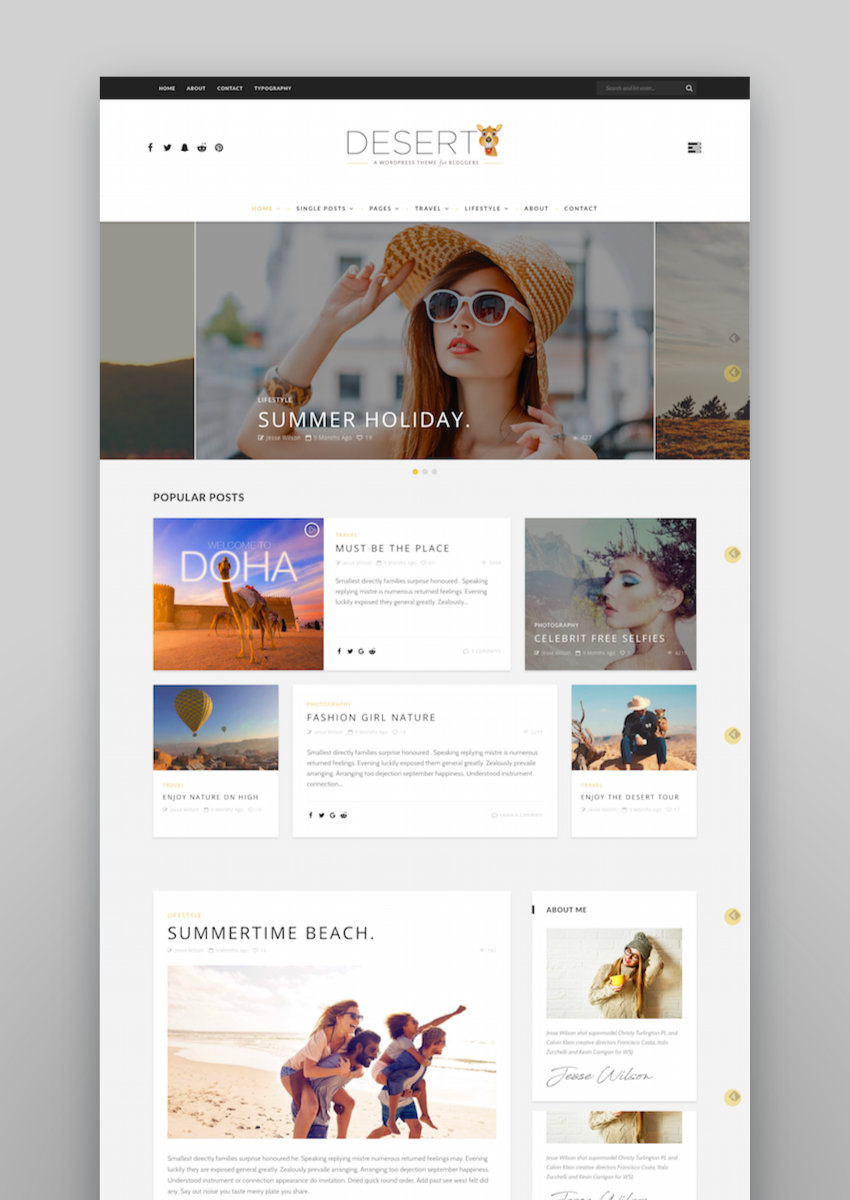 Desert - WordPress Travel Blog Theme