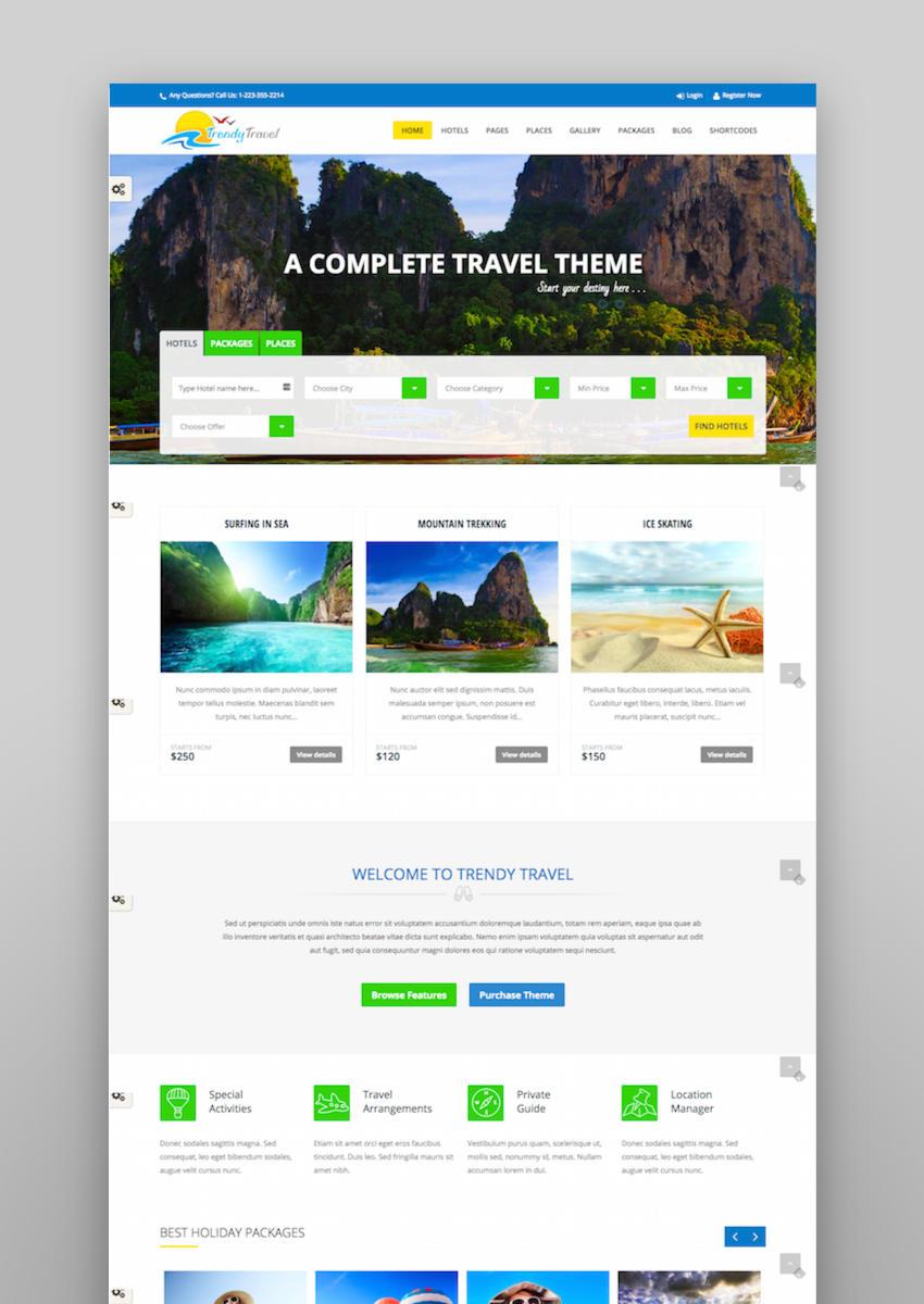 Trendy Travel - Tour Travel  Travel Agency Theme