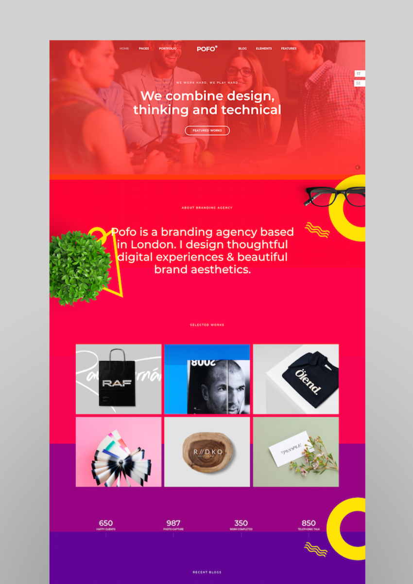 Pofo - Creative Agency Corporate and Portfolio Multi-purpose Template