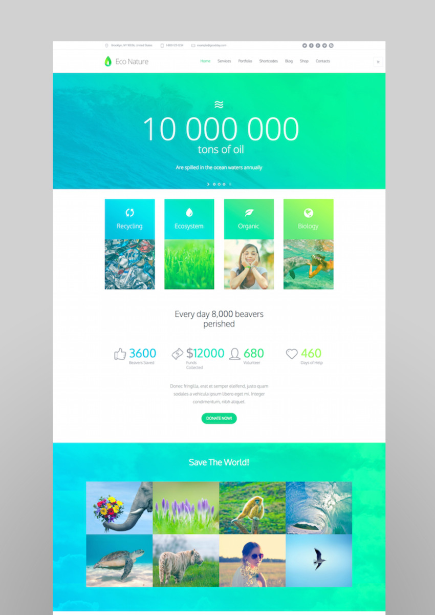 Eco Nature - Environment  Ecology WordPress Theme