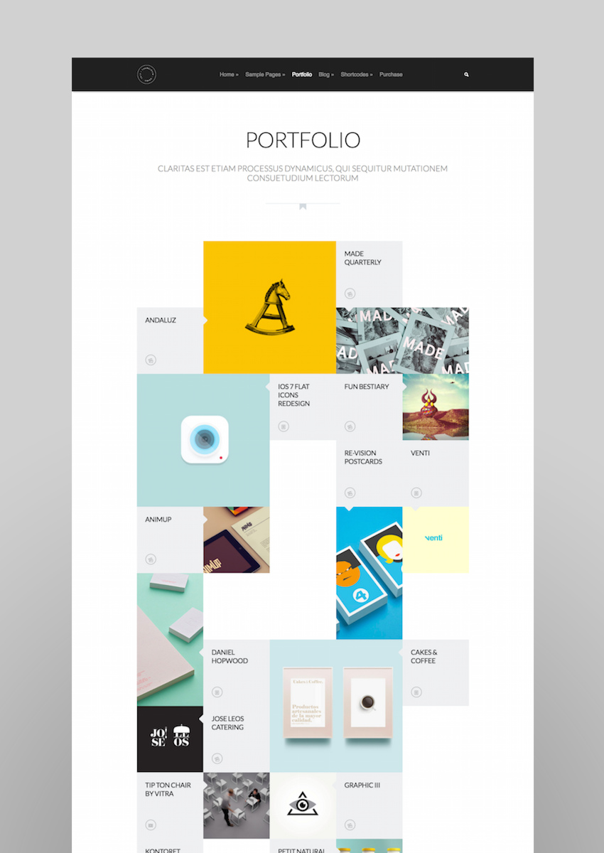 Grido Responsive and Multipurpose GridPortfolio