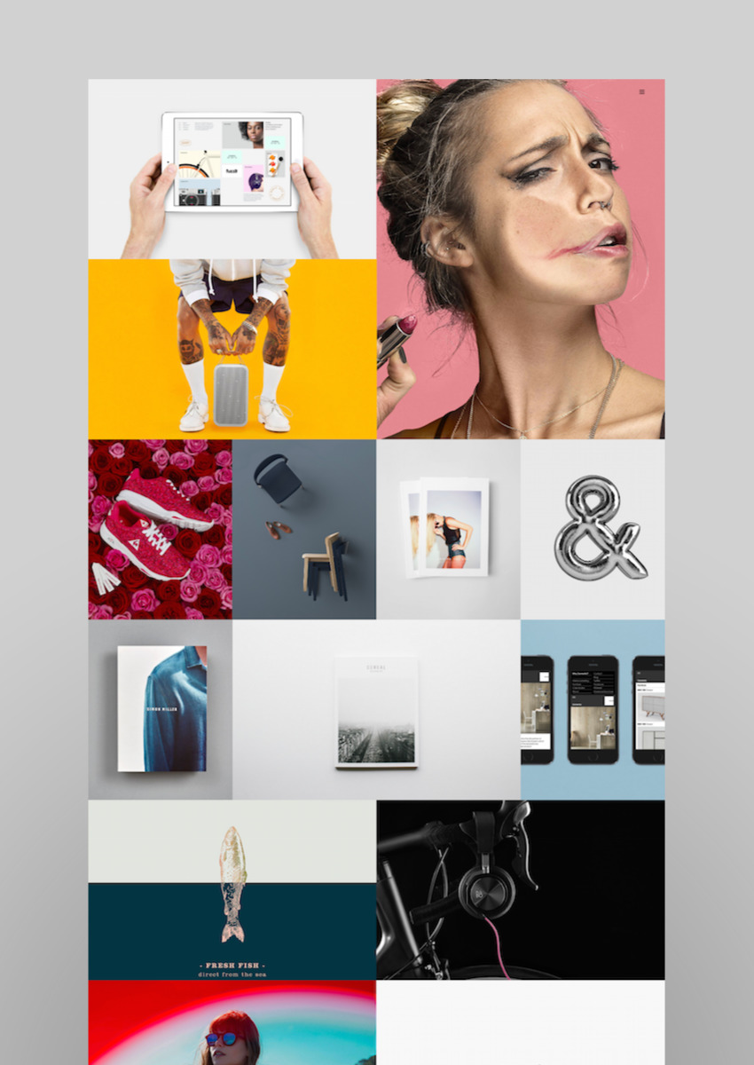 North Creative Bold Modern GridPortfolio Theme