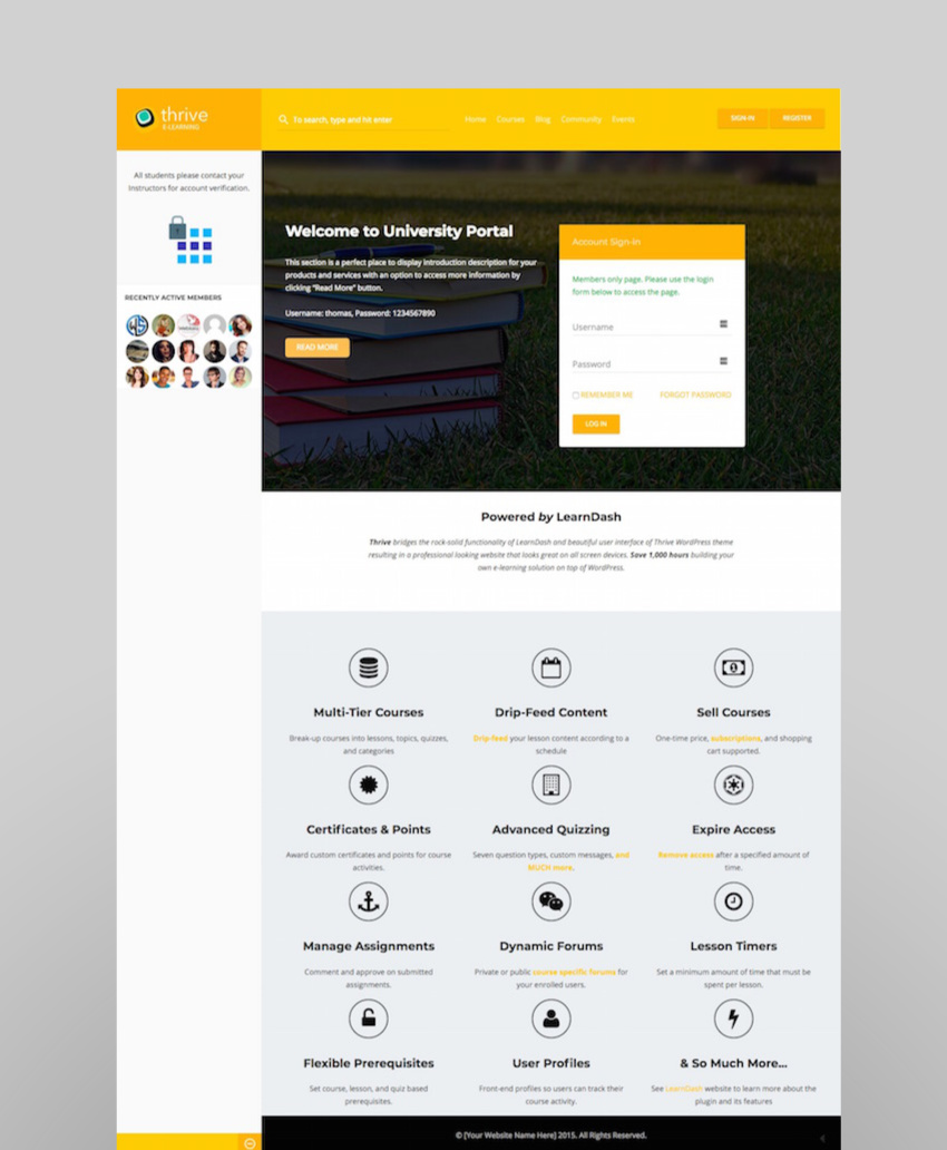 Thrive - Intranet  Community WordPress Theme