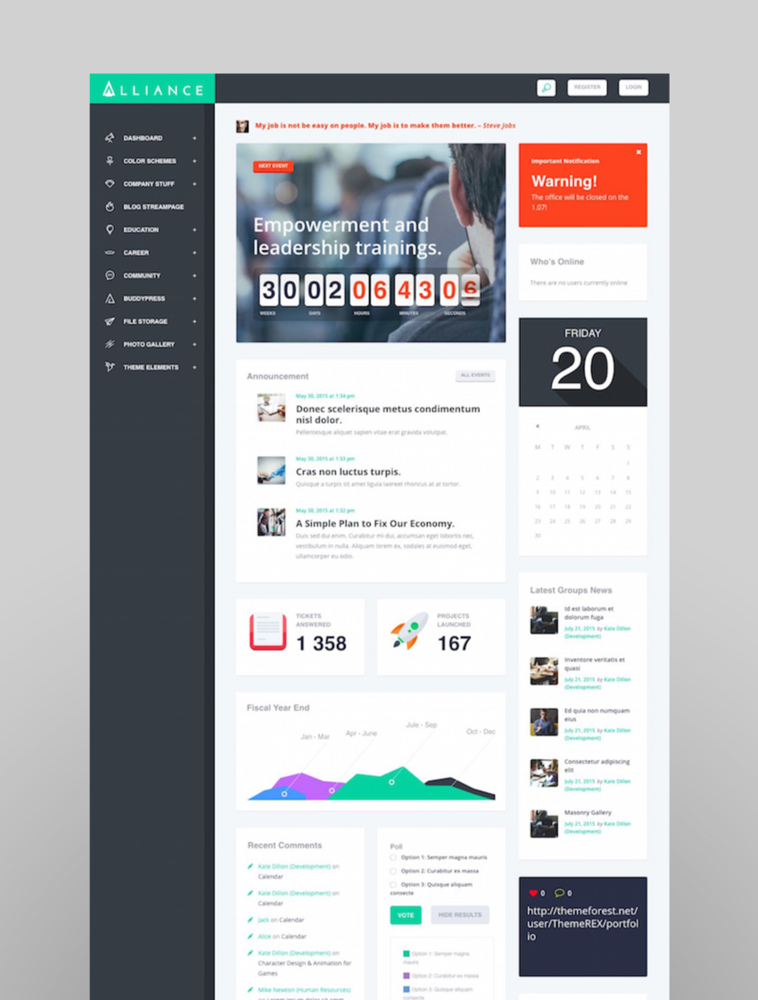 Alliance  Intranet  Extranet WordPress Theme