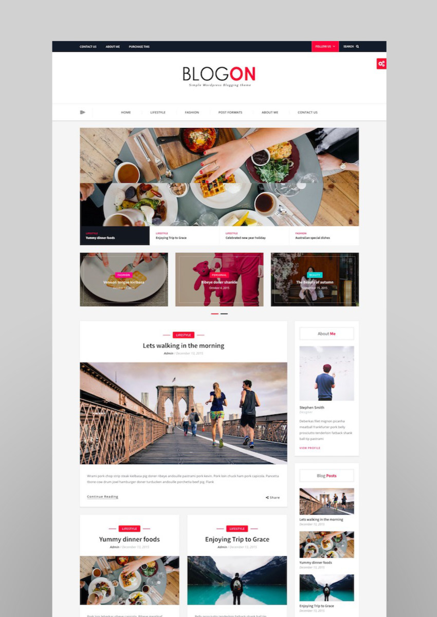 Blogon - WordPress Blog Theme