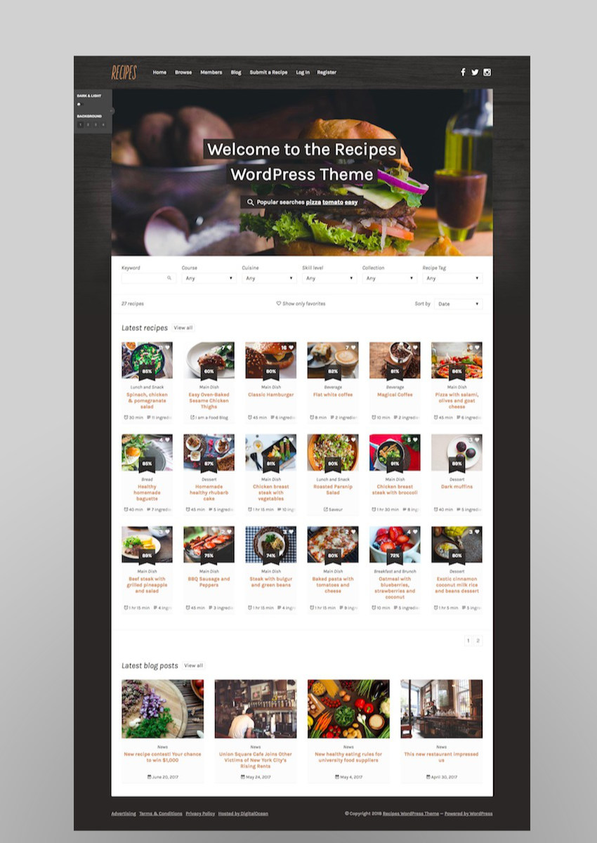 Recipes WordPress Theme