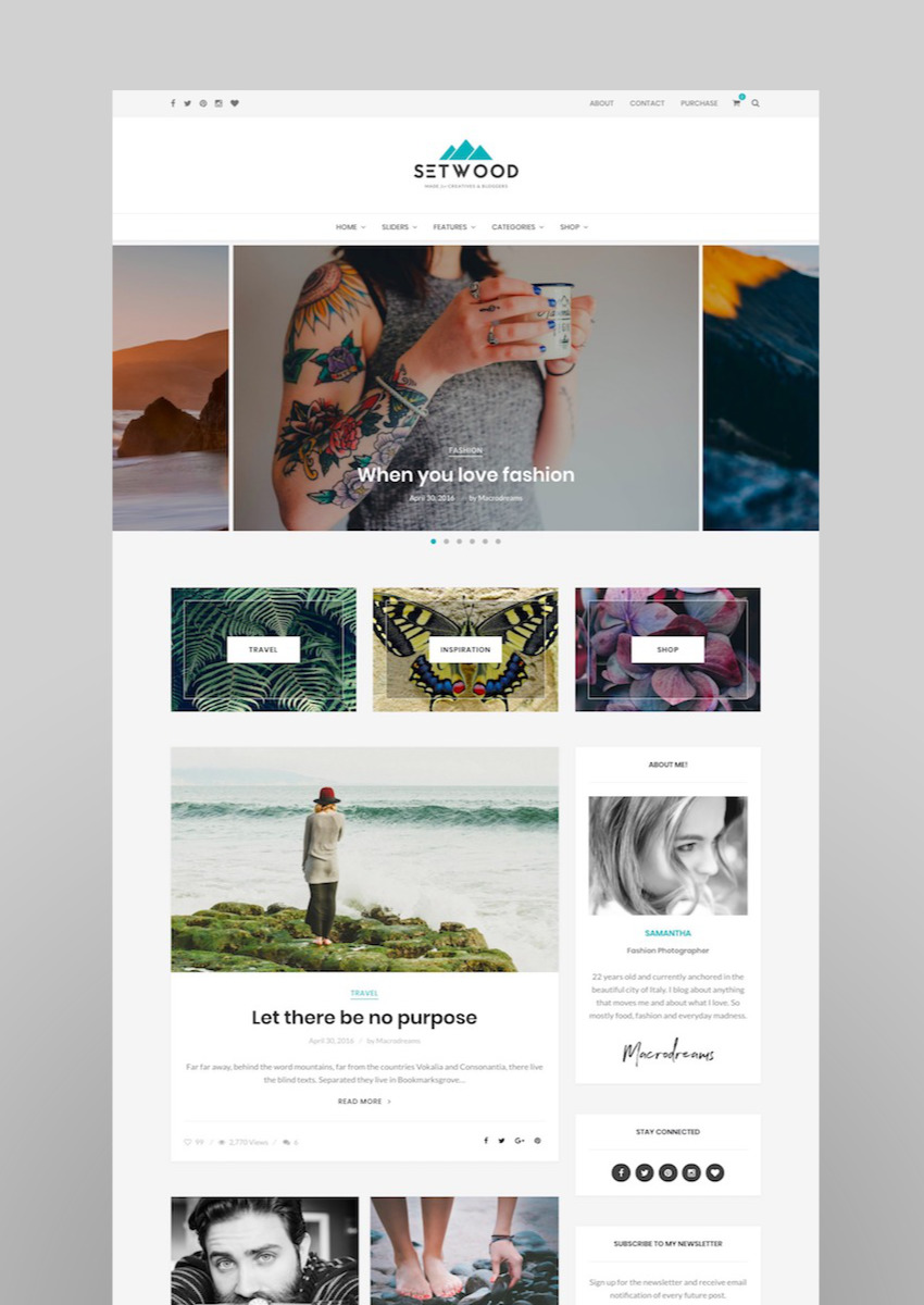 Setwood - WordPress Blog  Shop Theme