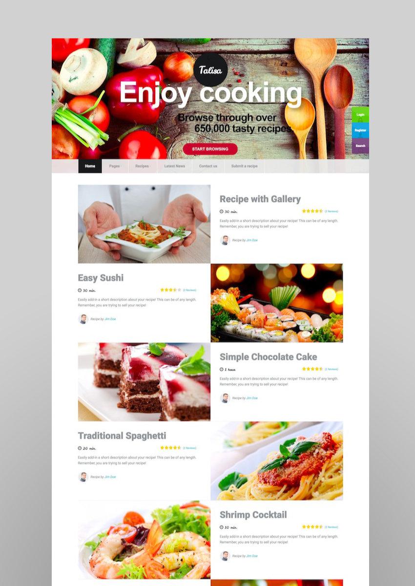 20 best food blog wordpress website recipe themes talisa food recipes wordpress theme forumfinder Gallery