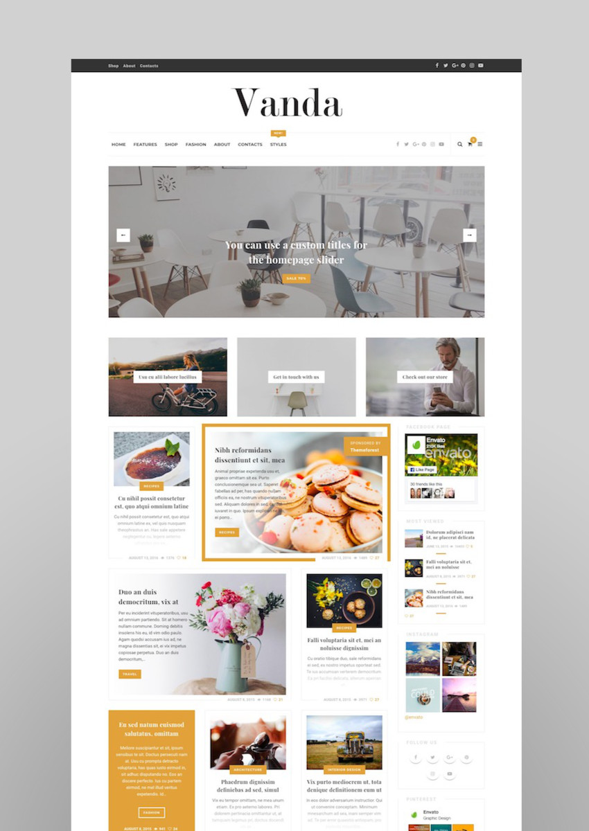 Vanda - Creative Blog  Magazine WordPress Theme