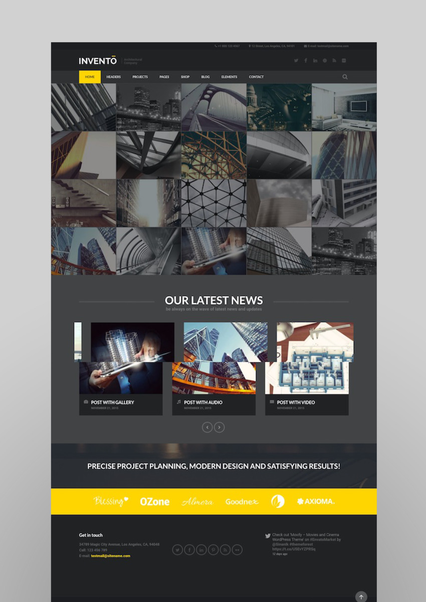 Invento Architecture Building Agency Theme