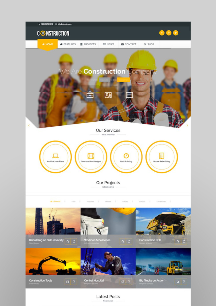Construction - Building and ArchitectureWordPress Theme