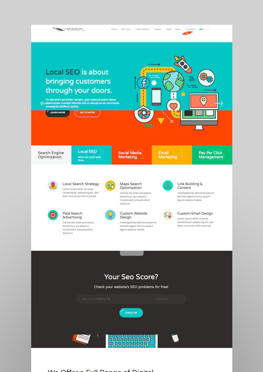 Seosight - SEO Digital MarketingAgency WP Theme with Shop